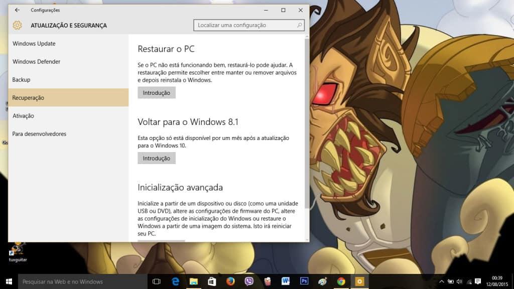 Voltar-instalação-do-Windows-10
