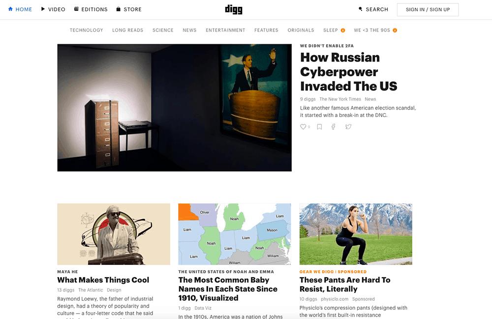 Captura-de-tela-do-agregador-de-noticias-digg
