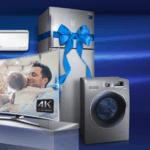 Samsung vende kit de TV 4K com eletrodomésticos com desconto