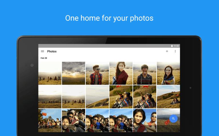 Google Fotos app smartphone