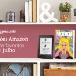 Recomendações de livros da Amazon para julho